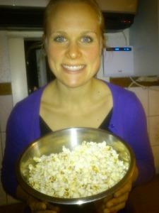 I brist på träningsbilder...mitt favoritsnack - popcorn!!!