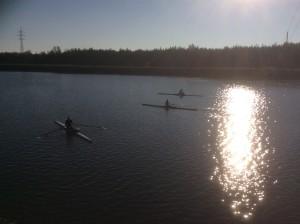 Britta, jag och NIk på vattnet!